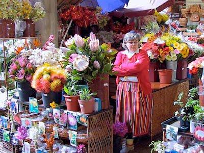 venditrici del mercato dei fiori